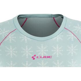 Cube Race Be Cool Camiseta interior funcional manga corta Mujer, grey'n'pink